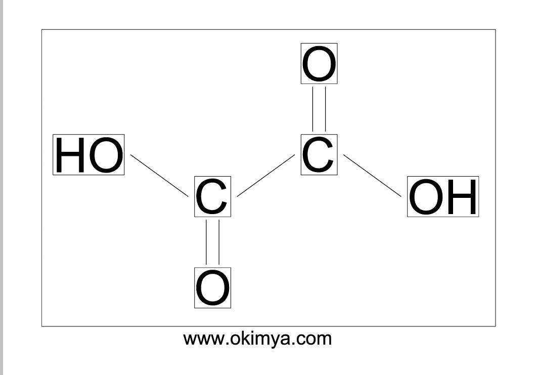 Oksalik Asit Molekül yapısı